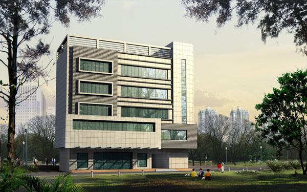 Immeuble de bureaux 3d model download free 3d models download for Immeuble bureau architecture